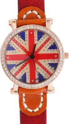 Super Drool ST2383_WT_RED Shimmering Flag Analog Watch  - For Women