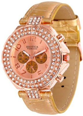 Exotica Fashions EFN-07-Rose-Gold Dm Series Analog Watch  - For Women