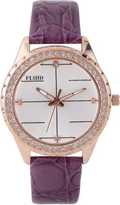 Fluid FL404-PR01 Crystal Diamond Collection Analog Watch  - For Women, Girls
