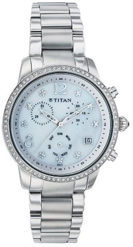 Titan NC9854SM02 Analog Watch For Women