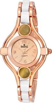 Swisstyle Pearl Bezel-SS-LR220-GLD-CH Analog Watch  - For Girls