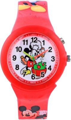 Cosmic Cosmic Amazing Mickey Mouse Red Kids Watch With Multi Color Light Analog Watch  - For Boys, Girls