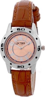 Oxter Perfect Retro Brown-Ladies Milestone Type Analog Watch  - For Women, Girls