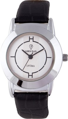 Optima FT-ANL-2467-BK Fashion Track Analog Watch  - For Girls