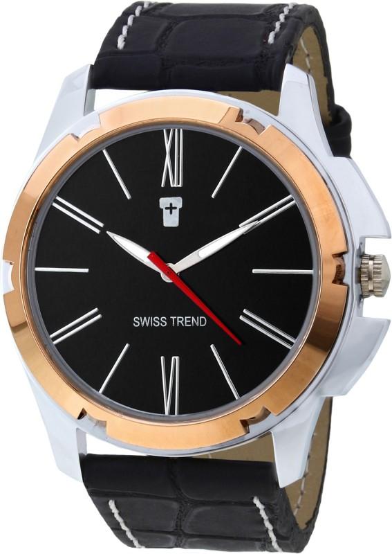 Swiss Trend ST2154 Golden Case Desginer Analog Watch For Men