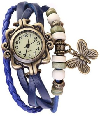 krazykart Blue-Butterfly Analog Watch  - For Women