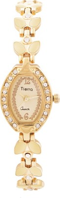 Tierra NGL-1071 Exotic Leaf Analog Watch  - For Women, Girls