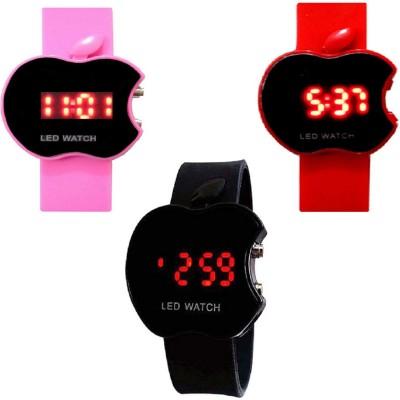 TOREK TOREK 3 Pink-Red-Black Apple Led Watch For Men,Women,Boys,Girls Digital Watch  - For Men, Women, Boys, Girls
