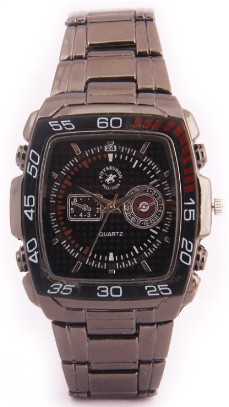 Pittsburgh Polo Club PBPC 442 SS BLK322 Analog Watch For Men