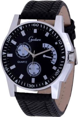 Gesture 5005-BK-1 Modest Analog Watch  - For Men