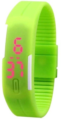 NS18 Led Band Single Green Digital Watch  - For Boys, Couple, Girls, Men, Women