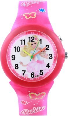 Cosmic Cosmic Amazing Barbie Pink Kids Watch With 14 Multi Color Light.B-07 Analog Watch  - For Girls