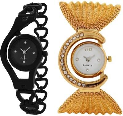 Fancy GLory Black & Gloden Combo 2 Analog Watch  - For Girls, Women