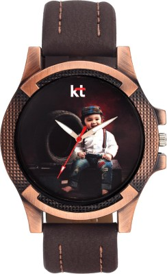 KT Collection 3DBrown_002 Analog Watch  - For Boys, Girls, Men