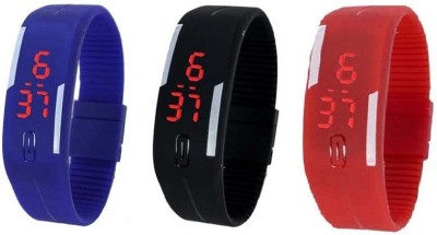 Rapid 3silicon bands Digital Watch  - For Couple