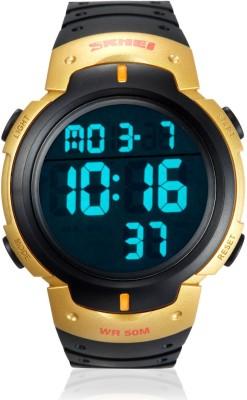 Skmei DG1068-Golden-Case Sports Digital Watch - For Men, Boys, Women, Girls
