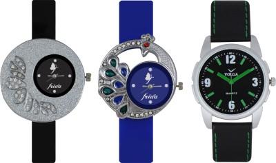 Frida Designer VOLGA Beautiful New Branded Type Watches Men and Women Combo242 VOLGA Band Analog Watch  - For Couple