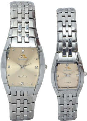 Bromstad 691PG-Silver Analog Watch - For Couple