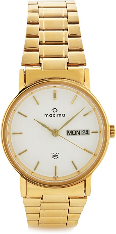 Maxima 04141CMGY Gold Analog Watch For Men