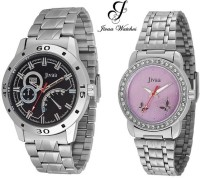 Jivaa ck_2343 Silver Imported Anniversary Collection Analog Watch  - For Couple