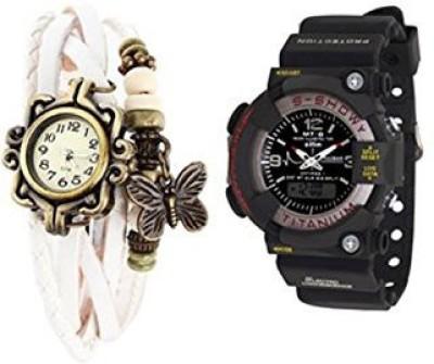 AVISER XYZ_002 Analog-Digital Watch  - For Couple