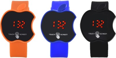 @rm gadgets ARM_LED_ORANGE_BLUE_BLACK Digital Watch  - For Men