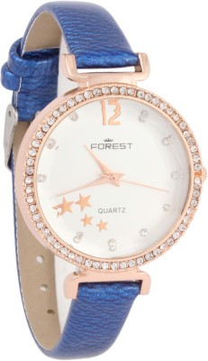 Forest Addic Crystal Studded Case And Dial (37) Analog Watch  - For Women