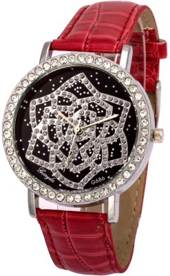 Gerryda G686 Red Analog Watch  - For Women
