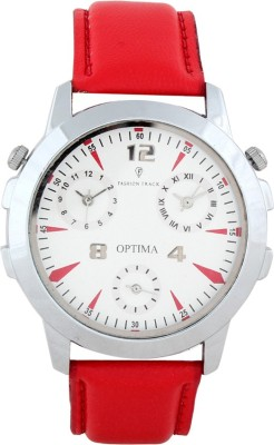 Optima FT-ANL-2526-WH Fashion Track Analog Watch  - For Men