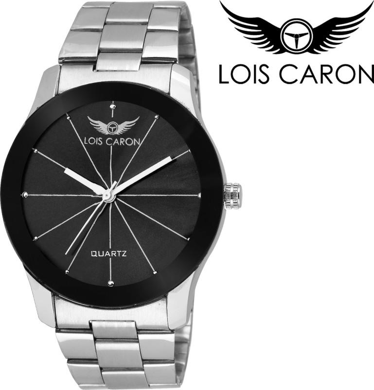 Lois Caron LCS 4112 DIAMOND BLACK BEZEL Analog Watch For Men