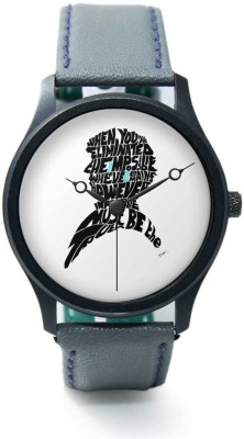 PosterGuy BigOwl Sherlock Holmes Benedict Cumberbatch Typography Illustration with Motivational Quote Premium -1203027726-RB1-B-GRY Analog Watch  - For Men