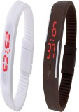 Twok Combo of Led Band White + Brown Dig...
