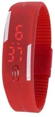 i-gadgets Silicon Red Led Digital Watch  - For Boys, Men