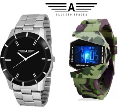 Allisto Europa AE11 Stealth LED Army Analog-Digital Watch  - For Men, Boys
