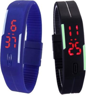 Oxter CMB-Bl-BkSb Modest Digital Watch  - For Boys