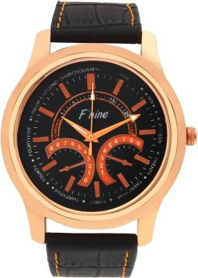FNINE vintage look crocodile leather strap Analog Watch  - For Men
