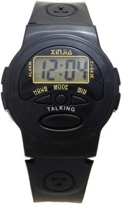 Xinjie XJ662E Talking Watch Digital Watch  - For Men, Women