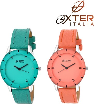 OXTER Master Green and Elegant Orange Beautiful Unique Collection Analog Watch  - For Women