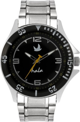 Hala Silver Metal Analog Watch  - For Men