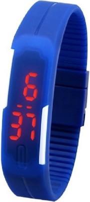 KMS MegnetBelt_GermanBlueLed Digital Watch  - For Men, Women, Boys, Girls
