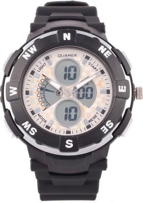 Quamer Sd-1316_blk-Slvr Fashion Analog-Digital Watch  - For Men
