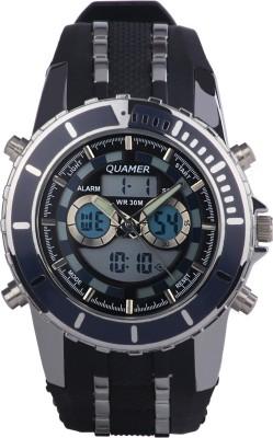 Quamer SD-161_BK-DBLSL-SB Analog-Digital Watch  - For Men