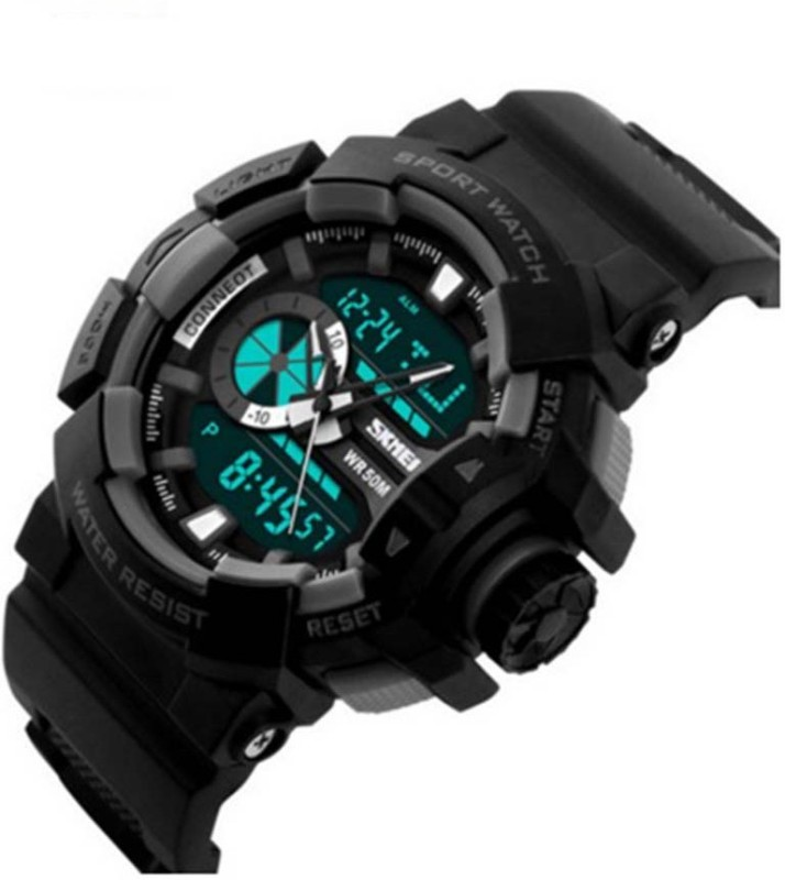 Abrexo Abx S kmei 1117RED Sports Analog Digital Watch For Men