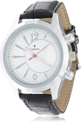 Calvino CGAS-151548_blk wht Trendy Analog Watch  - For Men