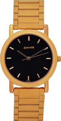 Sonata gh54 gold plated Analog Watch  - For Men