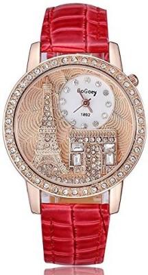 Gogoey Diamond Studed Eiffel Tower Analog Watch  - For Women