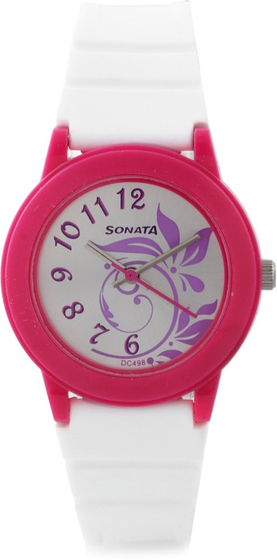 Sonata NG8992PP04 Fashion Fibre Analog Watch For Women