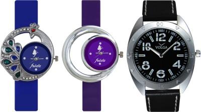 Frida Designer VOLGA Beautiful New Branded Type Watches Men and Women Combo469 VOLGA Band Analog Watch  - For Couple