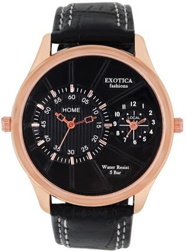 Exotica Fashions EF 71 Dual LS Rose Gold Black Basic Analog Watch