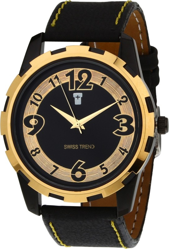 Swiss Trend ST2075 Golden Analog Watch For Men